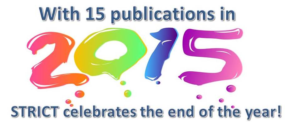 Celebrating the end of 2015 with 15 new publications